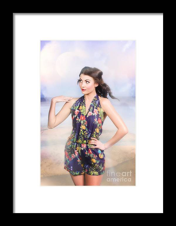 Fashion Framed Print featuring the photograph Outdoor Fashion Portrait. Spring Twilight Beauty by Jorgo Photography - Wall Art Gallery