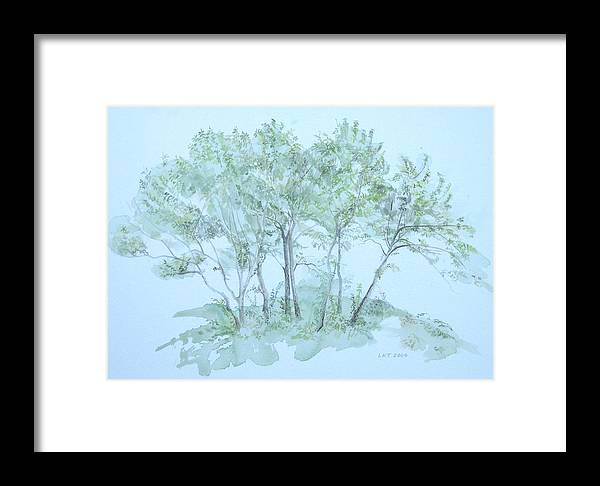 Trees Framed Print featuring the painting Outer Banks by Leah Tomaino