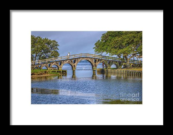 Summer Framed Print featuring the photograph Outer Banks Whalehead Club Bridge by Randy Steele