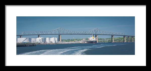 Outerbridge Crossing Framed Print featuring the photograph Outerbridge Crossing by Kenneth Cole