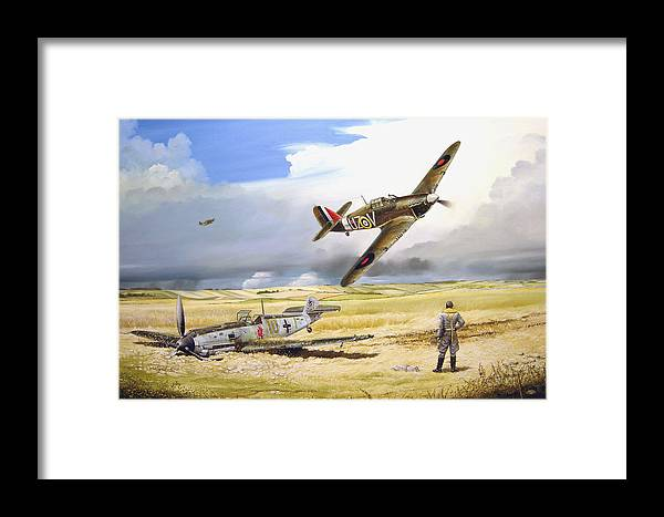 Painting Framed Print featuring the painting Outgunned by Marc Stewart