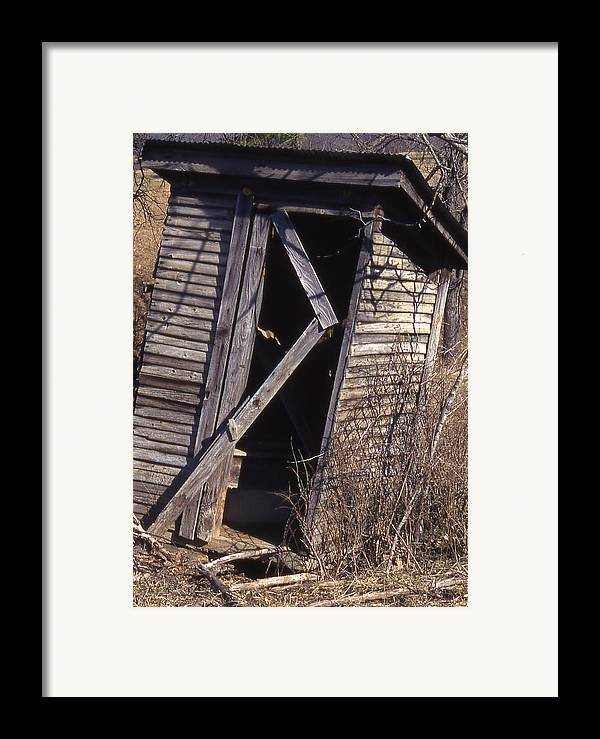 Framed Print featuring the photograph Outhouse1 by Curtis J Neeley Jr
