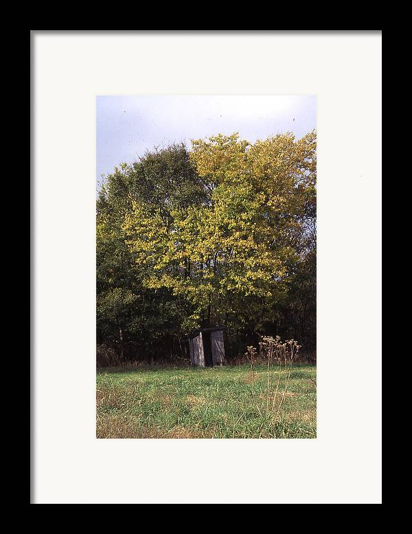 Framed Print featuring the photograph Outhouse4 by Curtis J Neeley Jr