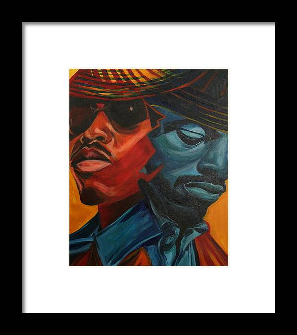 Big Boi Framed Print featuring the painting Outkast by Kate Fortin