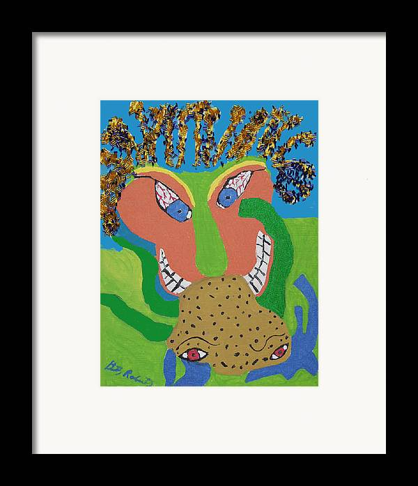 Framed Print featuring the painting Outrageous Mind Control by Betty Roberts