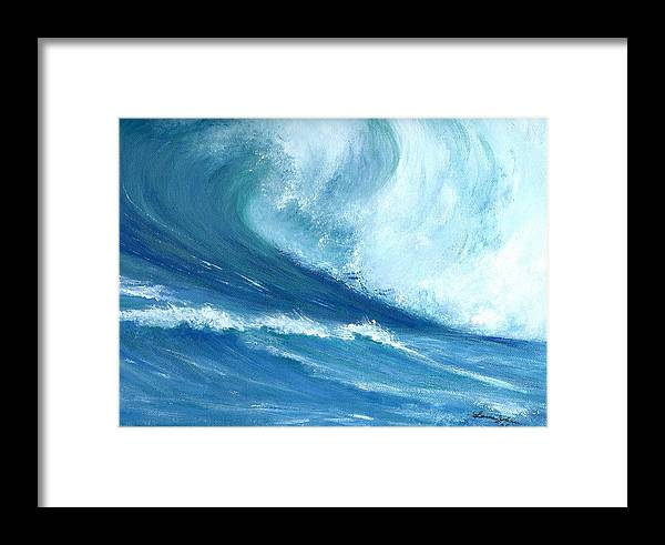 Wave Framed Print featuring the painting Outside Looking In by Laura Johnson