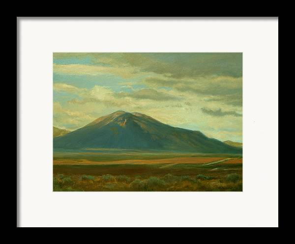 Southwest Framed Print featuring the painting Outside Of Taos by Phyllis Tarlow