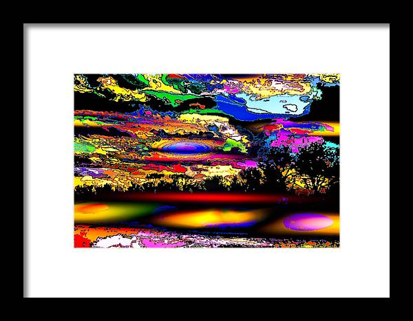 World's Framed Print featuring the digital art Outside The Box by Ron Fleishman