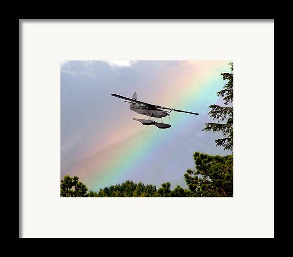 Rainbow Framed Print featuring the digital art Over The Rainbow by Kenna Westerman