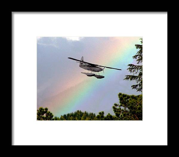 Rainbow Framed Print featuring the digital art Over The Rainbow by Kenna Westerman
