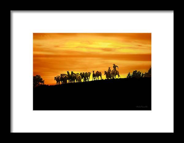 Michael Hamilton Framed Print featuring the photograph Over The Rim by Michael Hamilton