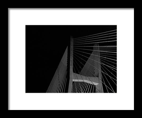 Bill Emerson Memorial Bridge Framed Print featuring the photograph Over The Waters by Jessica Fronabarger