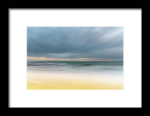 Australia Framed Print featuring the photograph Overcast And Softly Beautiful Morning Seascape by Merrillie Redden