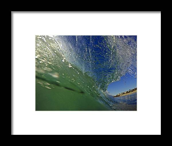 Wave Framed Print featuring the photograph Overhead Wave by Michael Cappelli