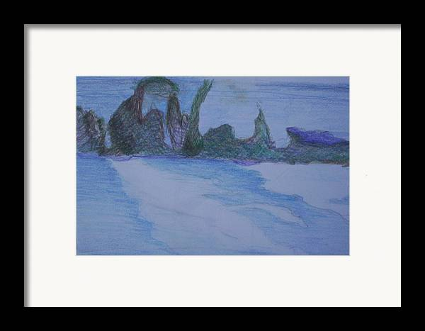 Abstract Painting Framed Print featuring the painting Overlap by Suzanne Udell Levinger