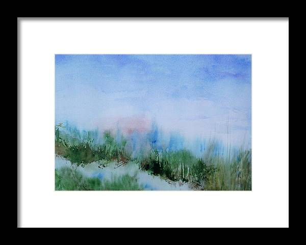Landscape Framed Print featuring the painting Overlook by Suzanne Udell Levinger
