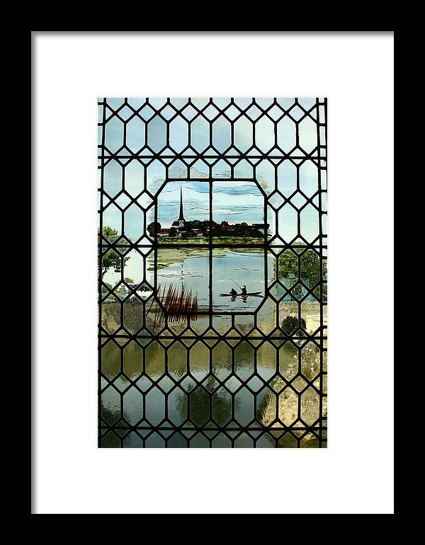 Architecture Framed Print featuring the photograph Overlooking The Loire by Mary McGrath