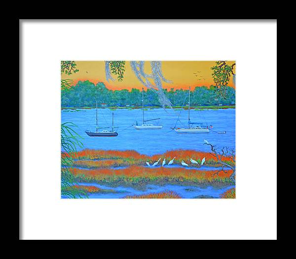 Beaufort Framed Print featuring the painting Overnight In Beaufort by Dwain Ray
