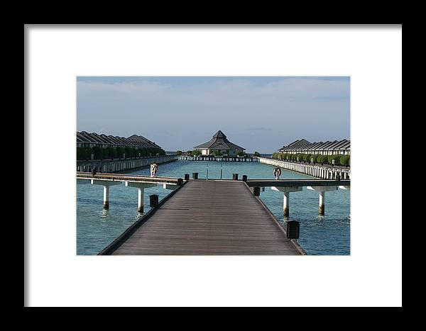 The Maldives Framed Print featuring the photograph Overwater Bungalows by Andrei Fried