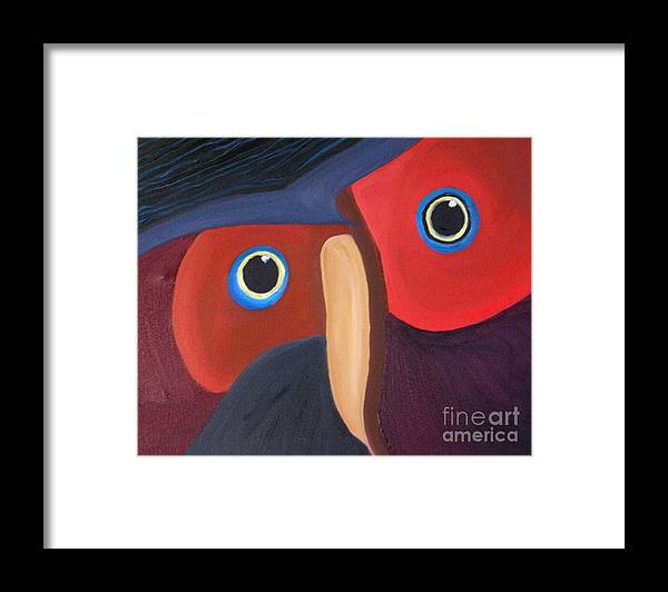 Owl Framed Print featuring the painting Owl - SOLD by Paul Anderson