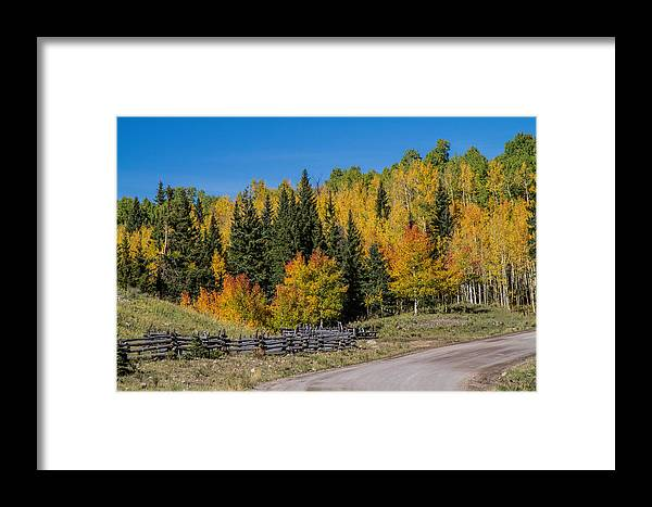 Landscape Framed Print featuring the photograph Owl Creek Pass Road 2 by Alana Thrower