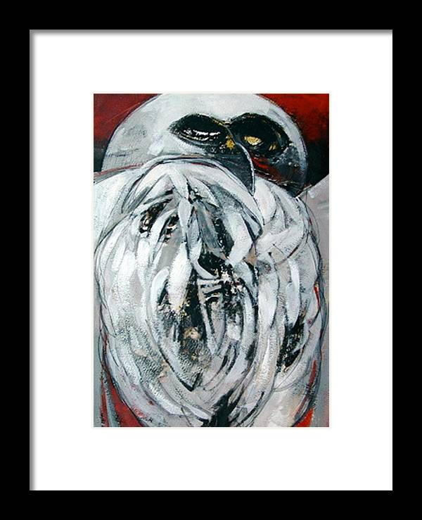 Bird Framed Print featuring the digital art Owl by Dale Witherow