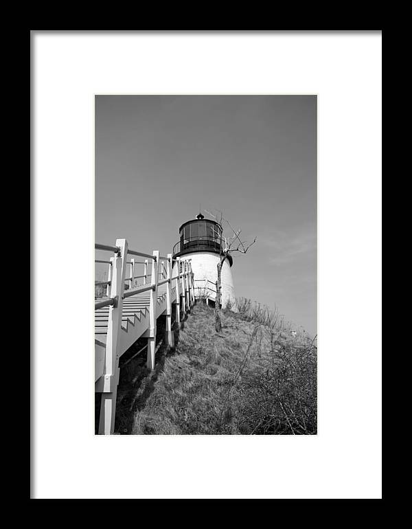 Lighthouse Framed Print featuring the photograph Owl's Head Light by Becca Brann