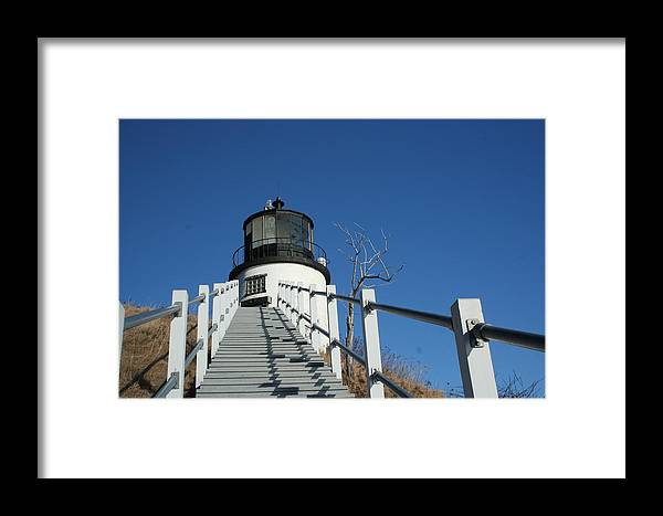 Landscape Framed Print featuring the photograph Owls Head Lighthouse Winter by Doug Mills