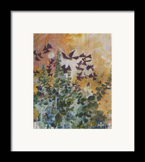 Oxalis Framed Print featuring the mixed media Oxalis by Alicia Kroll
