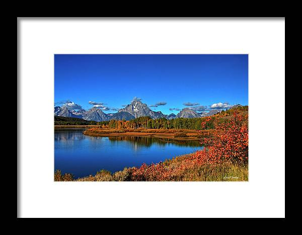 Grand Tetons Framed Print featuring the photograph Oxbow Bend by Richard Cronberg