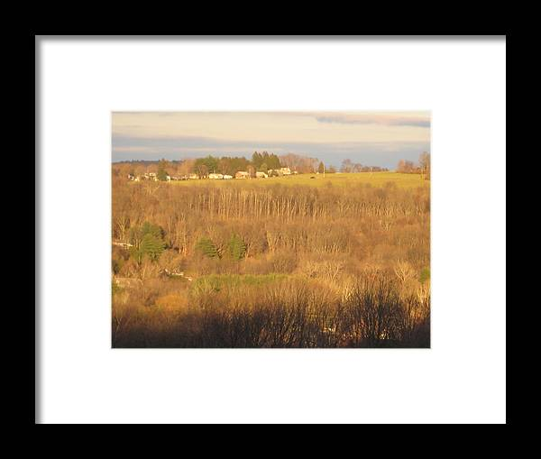Landscape Framed Print featuring the photograph Oxford Sunglow by Marcia Crispino