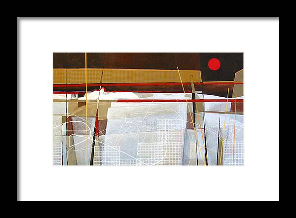 Abstract Framed Print featuring the painting Oyster Farm by Dale Witherow