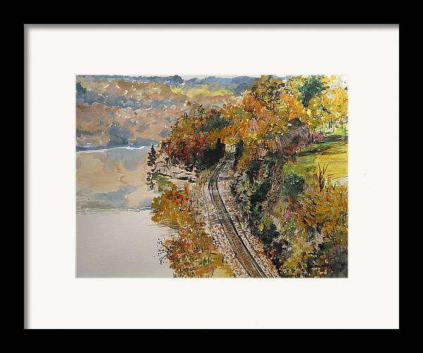Autumn Framed Print featuring the painting Ozark Fall by Sharon De Vore