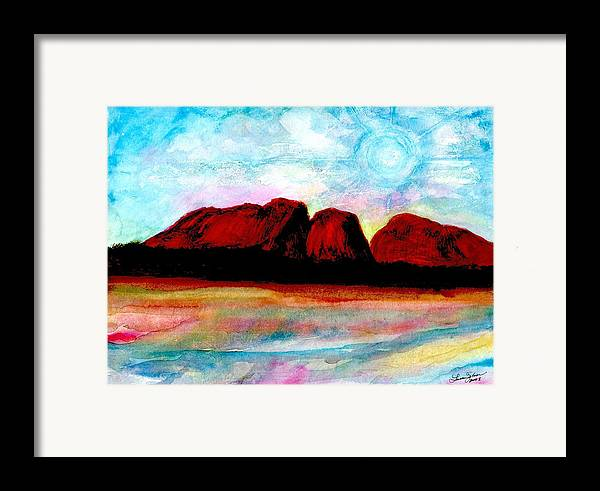 Dreamscape Framed Print featuring the painting Ozzzzzzzzzz by Laura Johnson
