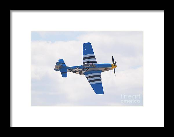 P 51 Framed Print featuring the photograph P-51 Mustang American Rose by Larry Keahey