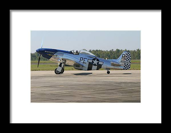 P-51 Framed Print featuring the photograph P-51 Mustang by Donald Tusa