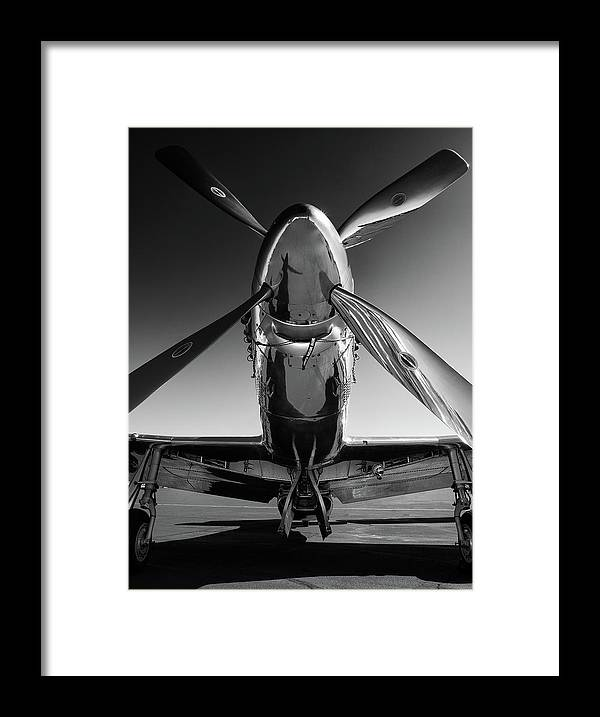 P51 Framed Print featuring the photograph P-51 Mustang by John Hamlon