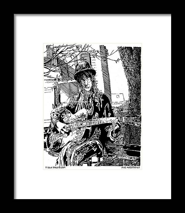 Provincetown Ma Framed Print featuring the drawing P Town Molly by Mike Massengale