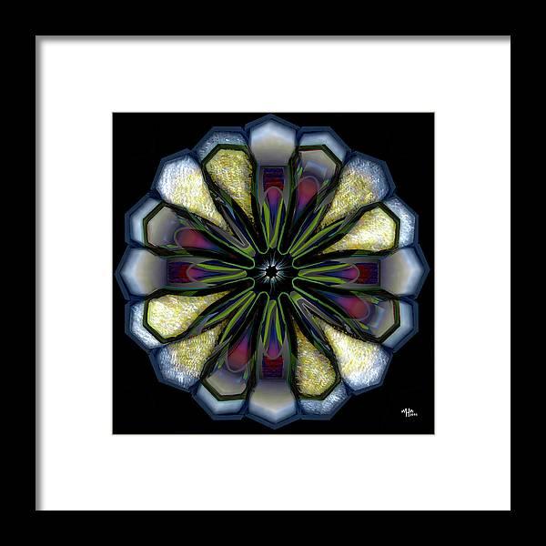 Geometric Abstract Framed Print featuring the digital art p by Warren Furman