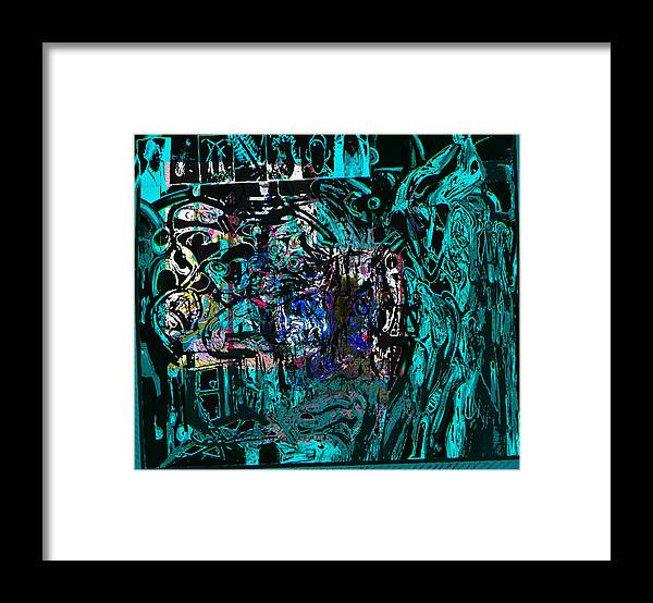 Abstract Framed Print featuring the painting P0st War by Noredin Morgan