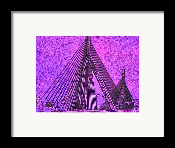 Abstract Framed Print featuring the painting p1040151b Zachon Bridge by Ed Immar