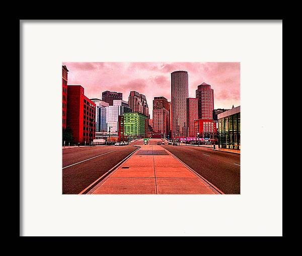 Cityscape Framed Print featuring the painting p1070558 Red City by Ed Immar