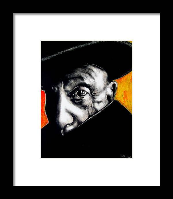 Framed Print featuring the mixed media Pablo by Chester Elmore