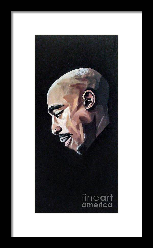 Tupac Framed Print featuring the painting Pac by Jason Majiq Holmes
