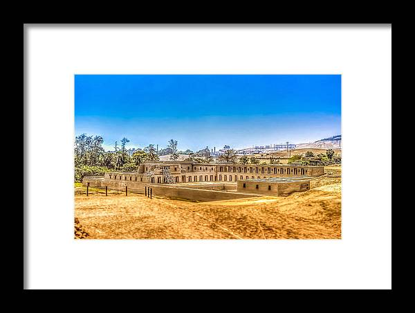 Archaeology Framed Print featuring the photograph Pachacamac by Dado Molina