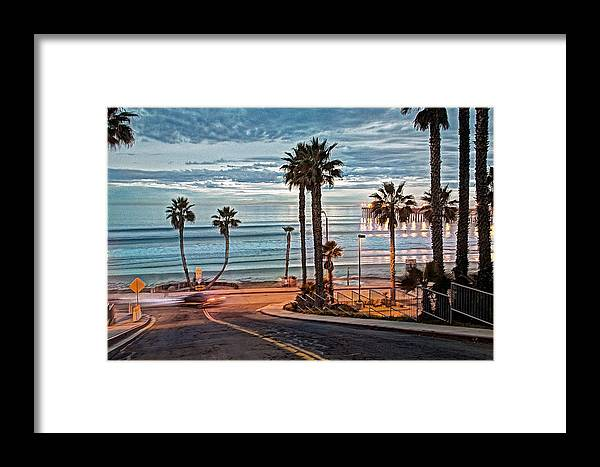 Oceanside Framed Print featuring the photograph Pacific And 1st Street by Ann Patterson