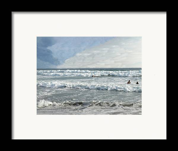 Pacific Framed Print featuring the photograph Pacific Beach by Chuck Shafer