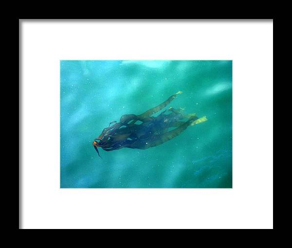 Kelp Framed Print featuring the photograph Pacific Kelp by Aliza Souleyeva-Alexander