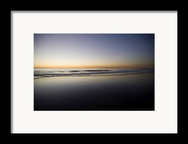 Water Framed Print featuring the photograph Pacific Ocean Dusk by Brad Rickerby