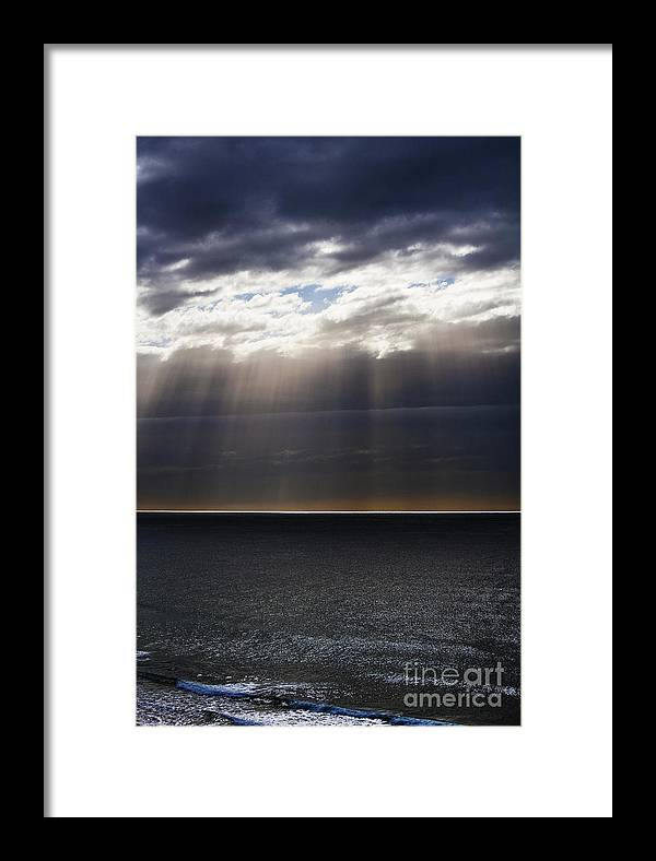 Framed Print featuring the photograph Pacific Storm by Sheila Smart Fine Art Photography